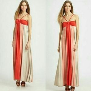 Ella Moss Colorblock Halter Skylar Maxi Dress
